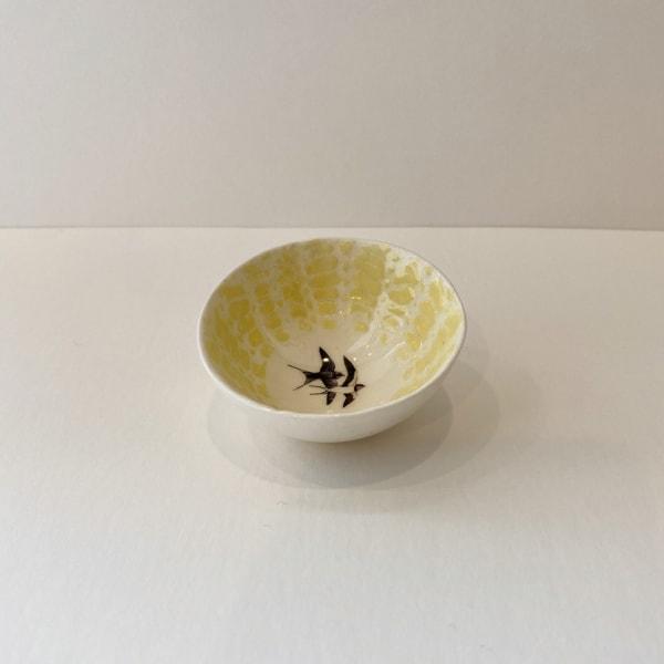 Fliff Carr, Yellow Swallows Treasure Bowl, 2019
