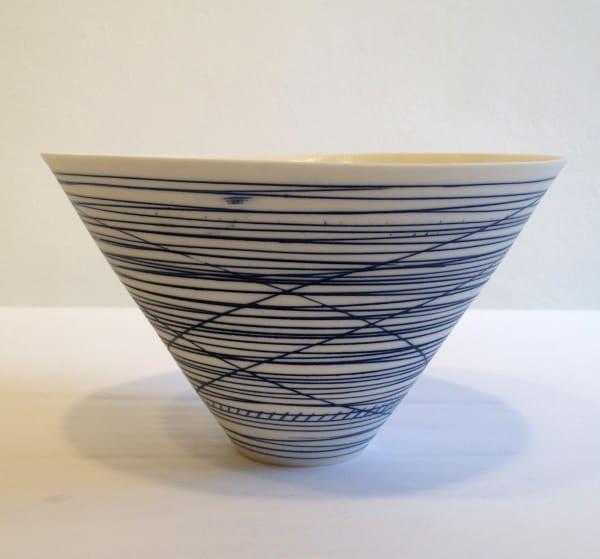 V Bowl - Blue Lines