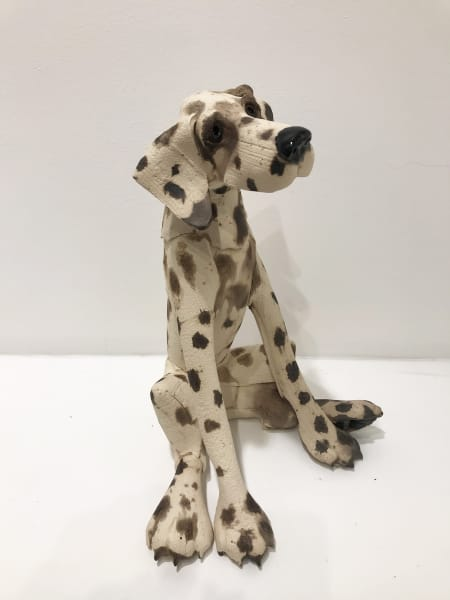 Virginia Dowe Edwards, Large Spotty Dog, Seated, 2019