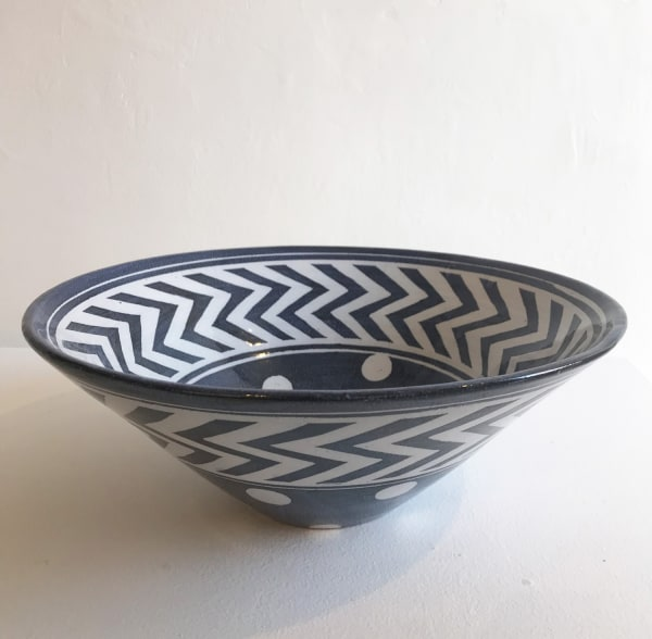 Spots and Zig-Zags, Large V-Shaped Bowl