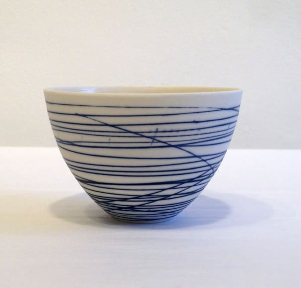 Small Bowl - Blue Lines