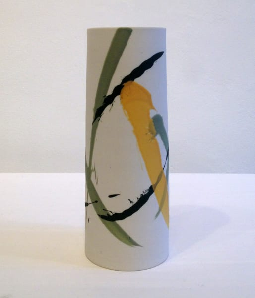 Medium Vase - Mustard & Green