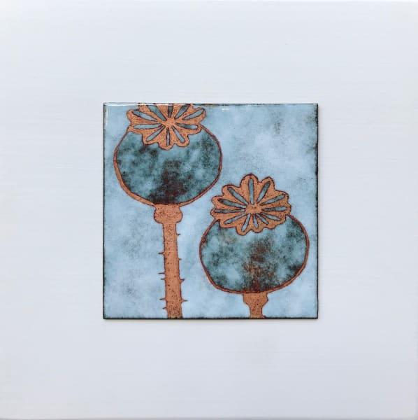 Poppy Seedheads, Small panel