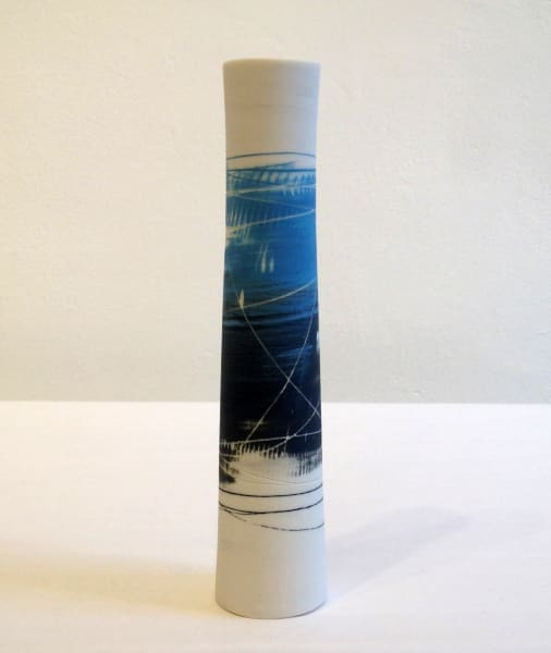 Cylinder Vase - Blue Grey