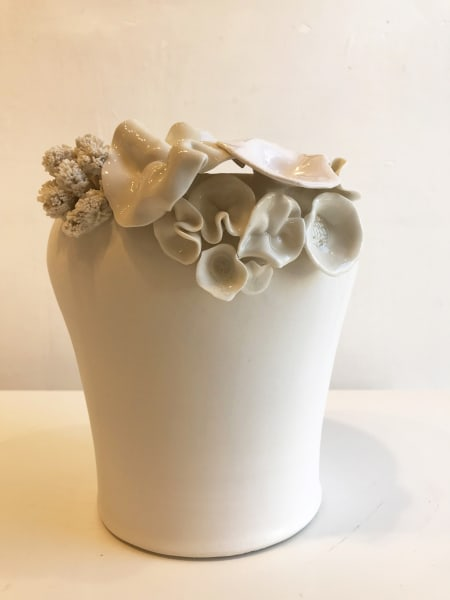 Emma Jagare, Large Flower Vase (Various Flowers and Coral on one side), 2018