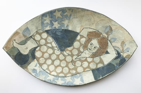 Mollie Brotherton, Cybele Large Platter, Gold, 2020