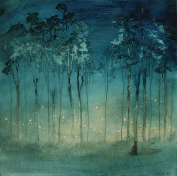 Daniel Ablitt, Lights in the Mist (Study), 2019