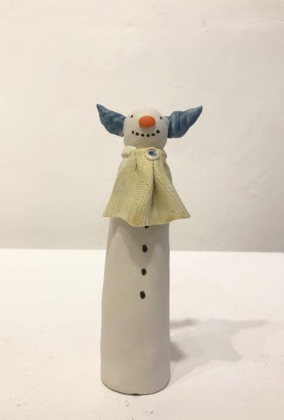Snow Clown with Blue Hair