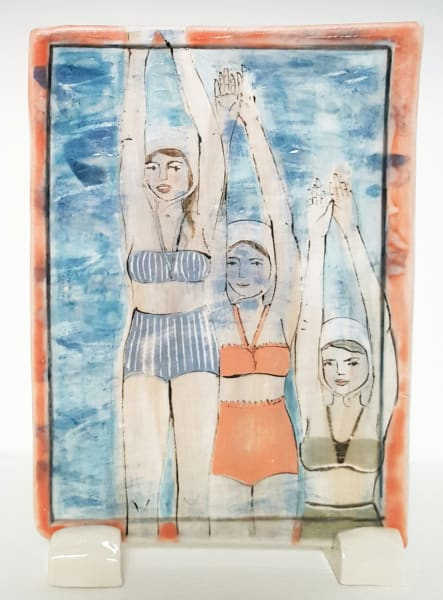 Clare Nicholls, Swimming Trio, 2020