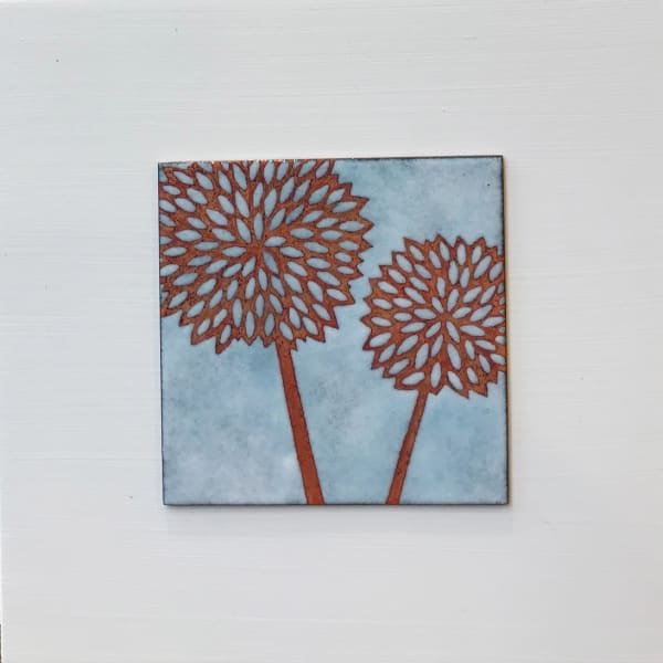 Janine Partington, Two Seedheads, Small panel