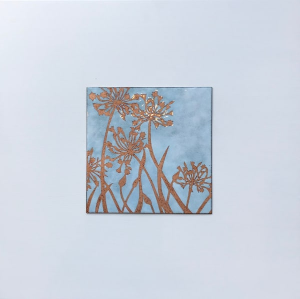 Janine Partington, Agapanthus, Medium panel