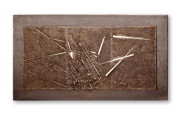 Arnaldo Pomodoro, Frammento, I da L'Arte dell'uomo primordiale di Emilio Villa, 2004
