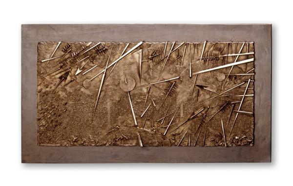 Arnaldo Pomodoro, Frammento VI, da L'Arte dell'uomo primordiale di Emilio Villa, 2004