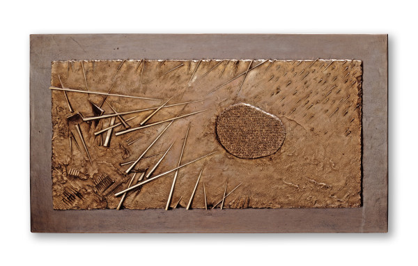 Arnaldo Pomodoro, Frammento II, da L'Arte dell'uomo primordiale di Emilio Villa, 2004
