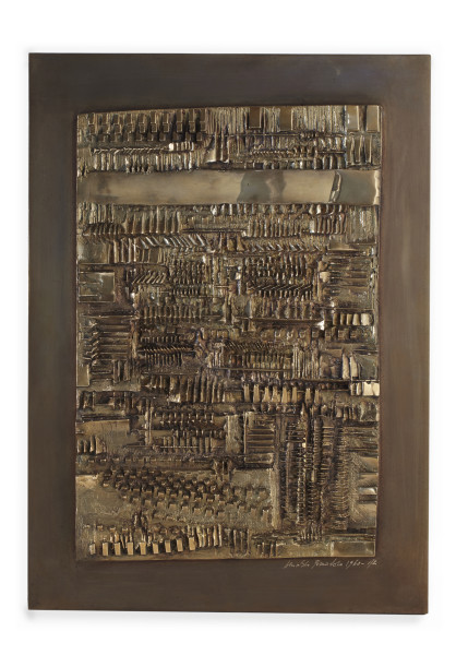 Arnaldo Pomodoro, Tavola dei segni, 1960, X, 1960