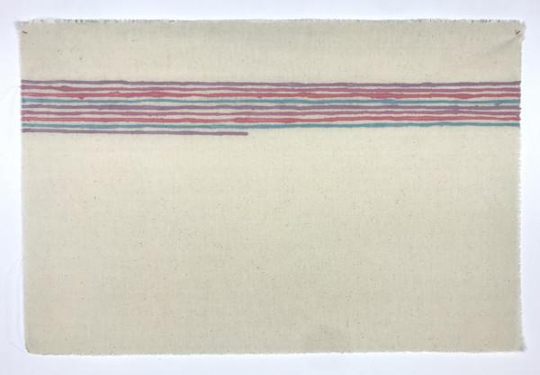Giorgio Griffa, Linee orizzontali, 1973