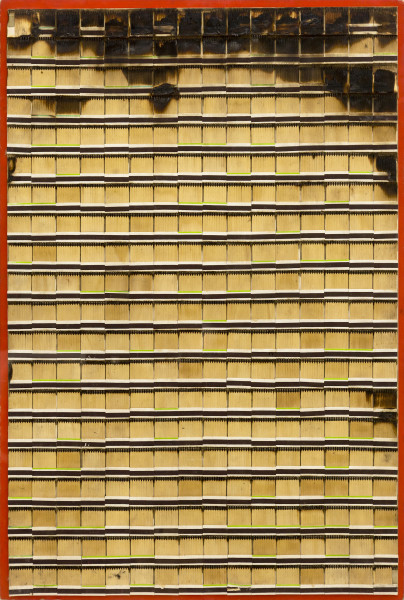 Bernard Aubertin, Allumettes brulées, 1974