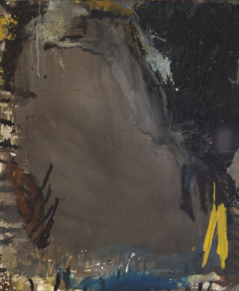 Shozo Shimamoto, Black, 1958