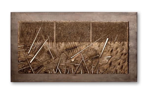 Arnaldo Pomodoro, Frammento IV, da L'Arte dell'uomo primordiale di Emilio Villa, 2004