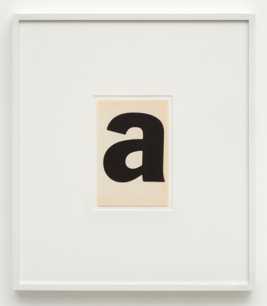 Matthew Higgs, A (Andy Warhol), 2015
