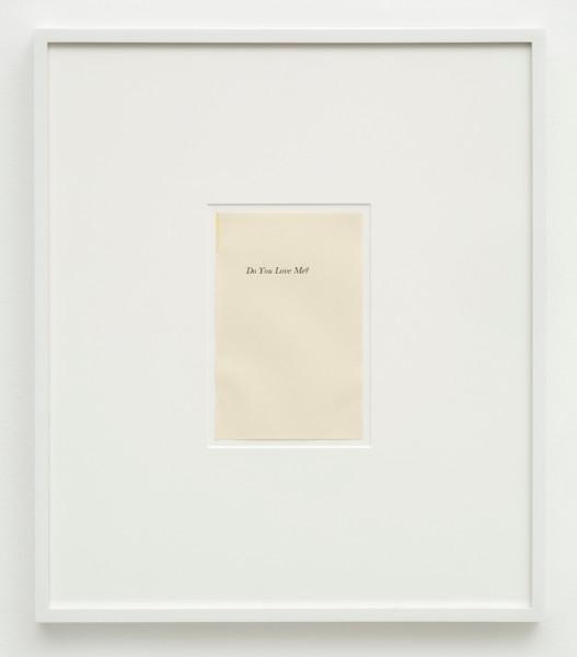 Matthew Higgs, Do You Love Me?, 2014