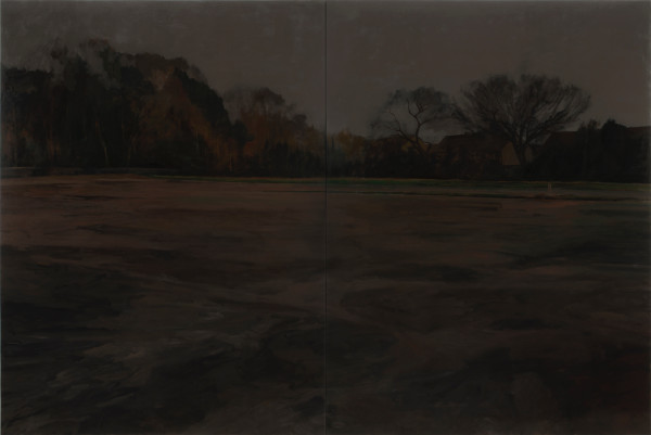 George Shaw, Landscape with Fuck All, 2015