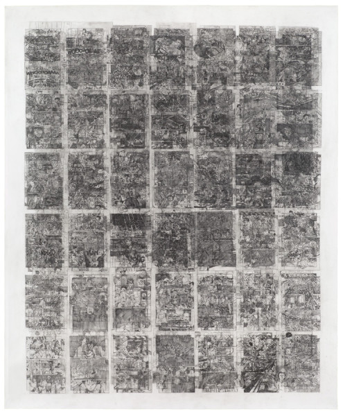 Ciprian Mureşan, Untitled (Akira, Volume 2, 301 pages on one paper), 2014 - 2015