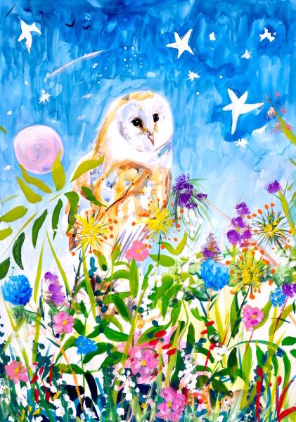 Millie McCallum, Owl in Night Sky