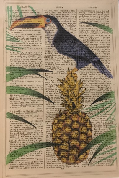 Framed Prints, Toucan Pineapple