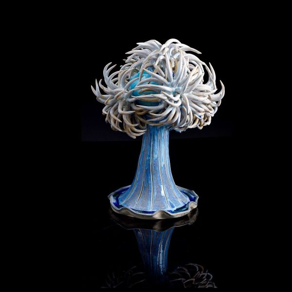 Frances Doherty, Blue glass frilly anemone