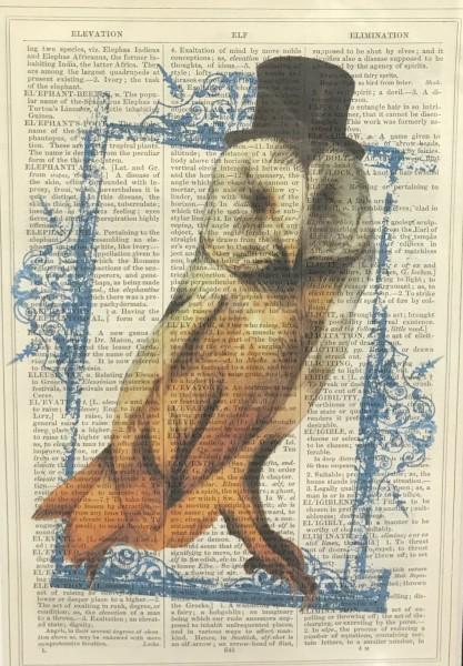 Unframed Prints, Owl Top Hat