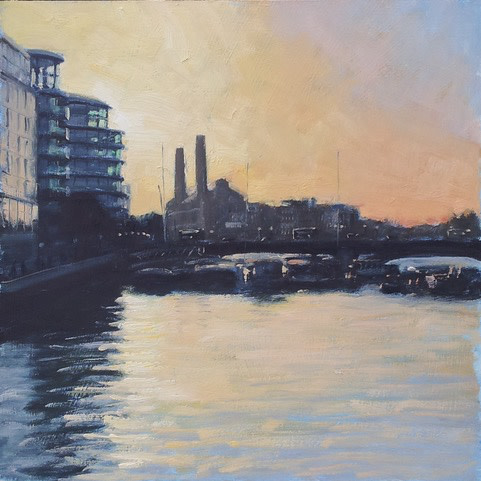 Ben Hughes, Evening Light Over Fulham