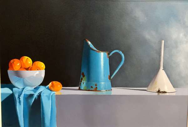 Robert Walker, Turquoise Jug and Clementines