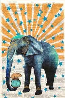 Unframed Prints, Circus Elephant