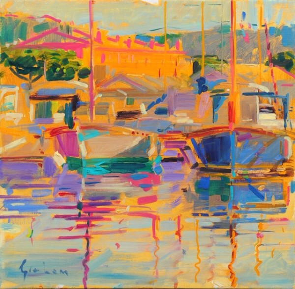 Peter Graham ROI, Evening Light, Saint-Tropez