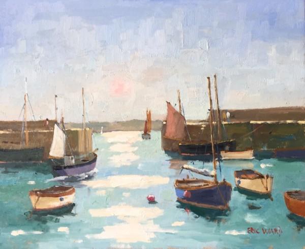 Eric Ward (b.1945), Morning tide at Mousehole