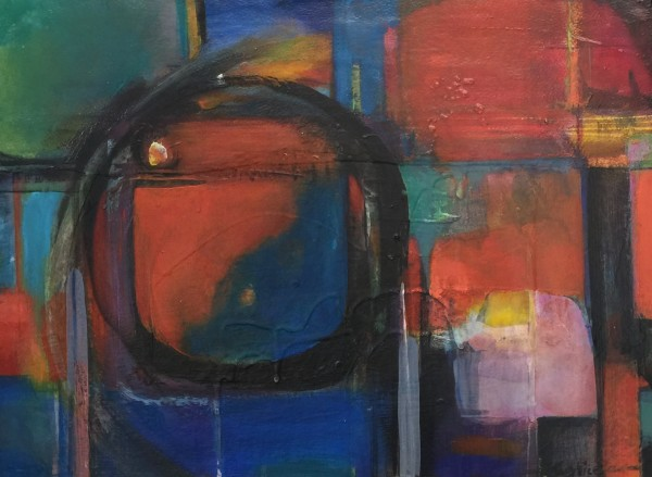 Michaela Justice, Abstract with Red & Blue