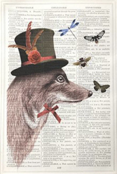 Framed Prints, Fox in Top Hat