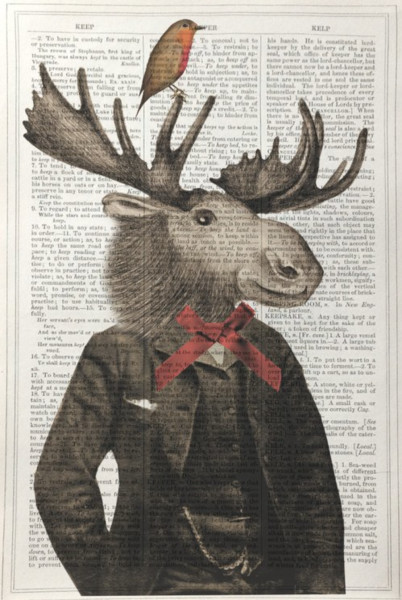 Framed Prints, Moose Gentlemen