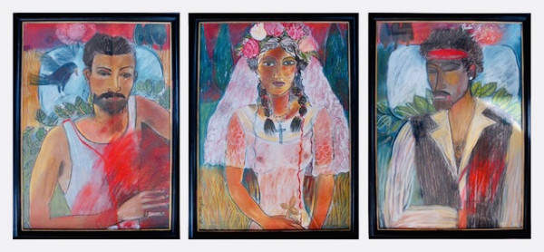 Anne Whyatt, Blood Wedding (triptych)