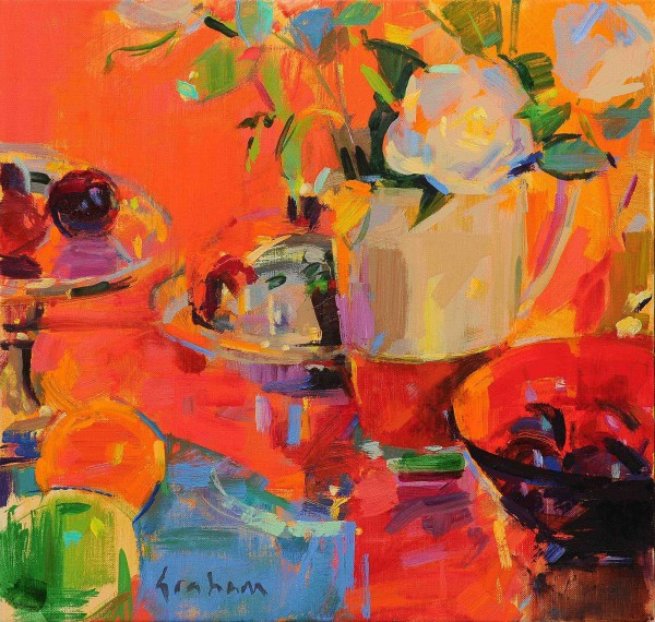Peter Graham ROI, Compotier with Fruits