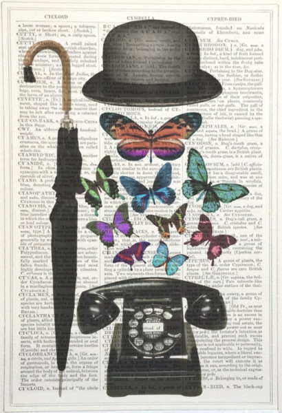 Framed Prints, Bowler Hat / Telephone