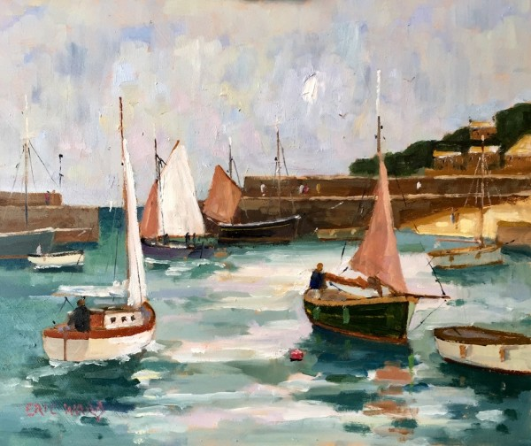 Eric Ward (b.1945), Sailing from Mousehole