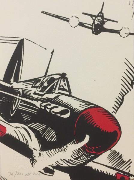 J P Reynolds (Unframed), Spitfire! Close up, 2016
