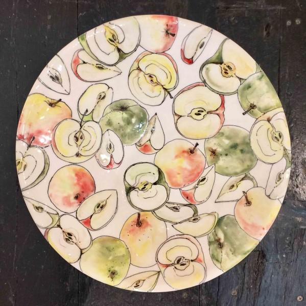 Kerry Edwards, Apples Round Platter