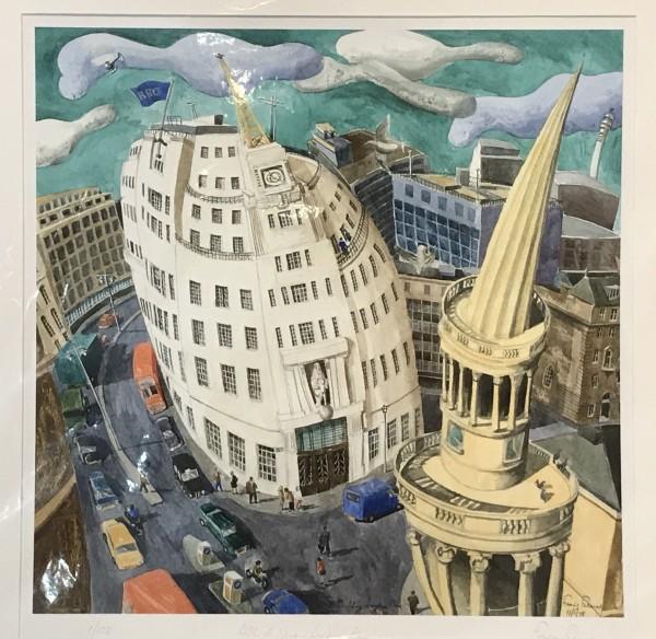 Francis Farmer, BBC Buildings and Langham Place