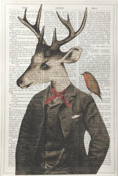 Unframed Prints, Stag Gentlemen