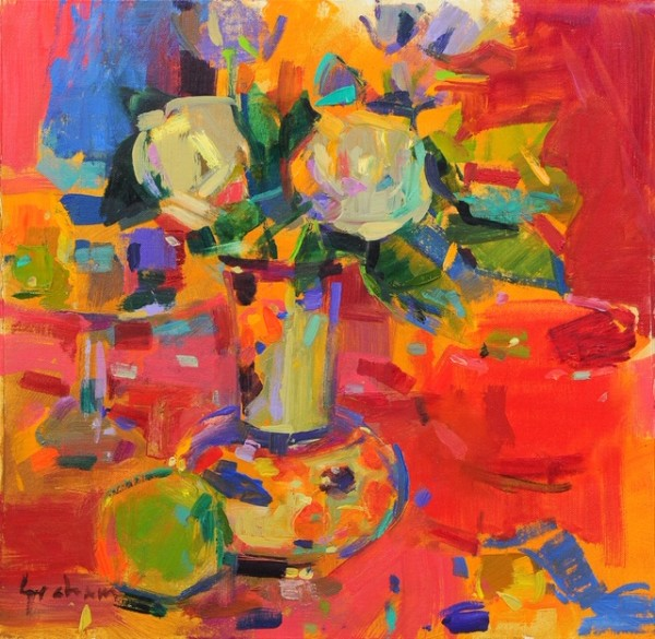 Peter Graham ROI, Bouquet with Compotier