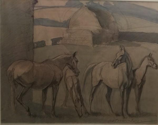 C.S. Brownlow, Grazing Ponies