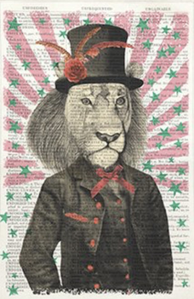 Framed Prints, Circus Lion
